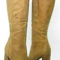 Vera Wang  Knee Tan Boot Womens Size 9 M Used 495 Photo
