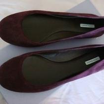 Vera Wang Lara Deep Plum Nib Flats Shoes Us 6.5 Photo