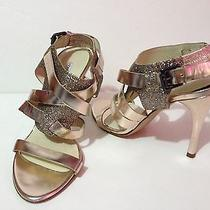 Vera Wang Lavander Garmin Leather Stilleto Sandal Sz 6.5m  Italy Women  Photo