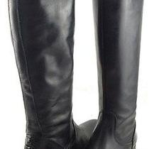 Vera Wang Lavender Jamar Black Leather Womens Designer Knee High Boots 9 Photo