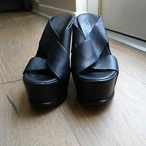 Vera Wang Lavender Label Black Wedge Shoes Photo