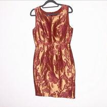 Vera Wang Lavender Label Floral Sleeveless Silk Dress Size 2 Photo