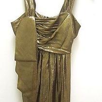 Vera Wang Lavender Label Women's Designer Gold Top Size 2 100% Silk Shimmer Top Photo