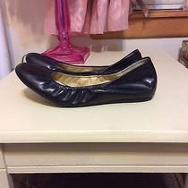 Vera Wang Lavender Size 8m Solid Black Leather Ballet Flats Photo