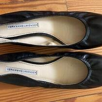 Vera Wang Leather Ballet Flats Size 8.5 Black Photo