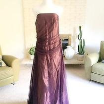 Vera Wang Maids Wedding Dress 18 Purple Plum Full Length Gown Tulle Photo