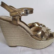 Vera Wang Metallic Bronze Wedge Sandals Size 11 Photo