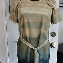 Vera Wang Multi Colored Short Sleeve Polyester Belted Top Tunic Shirt Sz 10 Photo