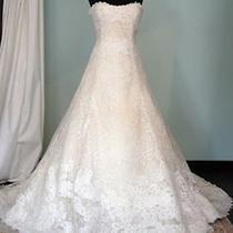 Vera Wang Nathalie Wedding Dress (New) Size 14 a-Line Strapless Photo