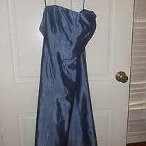 Vera Wang Pearly Blue Wedding or Formal Dress Size 6 Strapless Photo