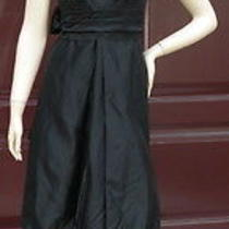 Vera Wang Perfect Black Statement  Audrey Hepburn Style Dress  Bow  in Back S-M Photo