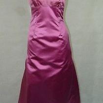 Vera Wang Pink Silk Satin Strapless Dress Gown 6 Photo