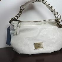 Vera Wang Purse Handbag Ivory Hobo Savanna Chain  Nwt 79 Photo