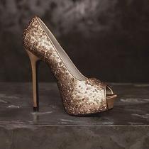 Vera Wang Sequin Heels Photo