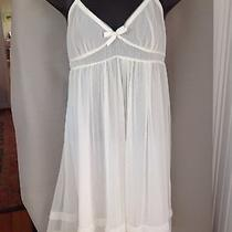 Vera Wang Sheer Empire Waist Ivory Nightie Size Small Photo