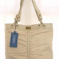 Vera Wang Simply Vera Big Buff White Shoulder Bag Handbag Purse Nwt 139. Photo