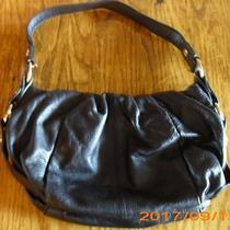 Vera Wang (Simply Vera) Black Leather Magnet Closure Purse/handbag/tote Photo