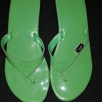 Vera Wang Simply Vera Green Sandals Used Condition Photo