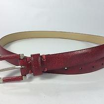 Vera Wang Simply Vera Large Red Snake Look Belt 41