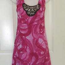 Vera Wang Sleeveless Dress Bright Colorful Huge Rhinestone  Applique Photo