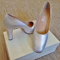 Vera Wang White Satin Wedding Shoes - the Perfect Shoe for the Perfect Day 10b Photo