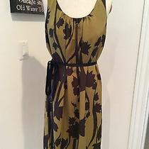 Vera Wang Womens Sleeveless Shift Dress Size M Floral W Belt Cocktail Dress 6  Photo