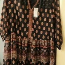 Vero Moda Black/addison Tunic Dress Size M (12-14) With Tags Great W/leggings Photo