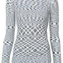 Veronica Beard Lainey Black White Stretch Tunic Sweater Top S  Sold Out 295 Photo