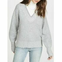 Veronica Beard - Mirnie v-Neck Sweater - Grey - Size M -  395 Photo