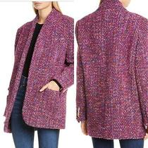 Veronica Beard Size 2 Multicolored Boucle Crispin Coat  Wool Blend Nwt Msrp 950 Photo