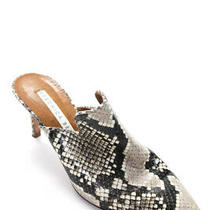 Veronica Beard Womens Pointed Toe Snakeskin Print Stiletto Mules Size Euro 36 Photo