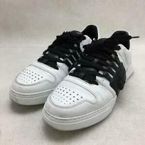Versace  40 Leather Size 40 White Low Cut Sneaker 296 From Japan Photo