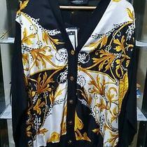 Versace Barocco Acanthus Motif Cardigan Rrp 930(size 12 Uk l) 100% Authentic Photo
