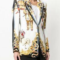Versace Baroque Native American Print Blazer Size 40 Photo