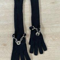 Versace Black Gloves Size Medium Photo