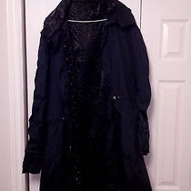 Versace Black Label Black Raincoat With Detachable Lining Photo