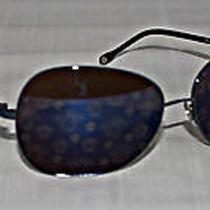 Versace - Blue Mirrored Shield Sunglasses - Mod 2124 1307/5f Photo