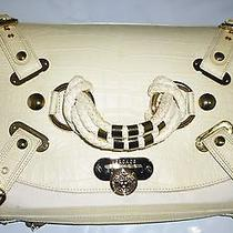 Versace Canyon Croc Denim Handbag Rare Classic Yellow Cream Woman's Bag New  Photo