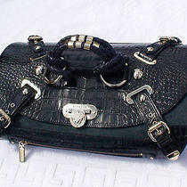 Versace Canyon Croc Denim Handbag ( Rare & Unique ) Photo