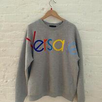 Versace Classic Logo Embroidered Sweatshirt Gray Size M Ret. 850 Photo