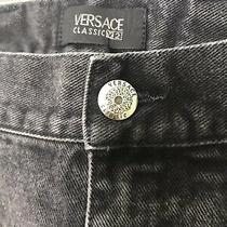 Versace Classic V2 Vintage Black Denim Jeans Mens Big & Tall Size 48 Usa Photo