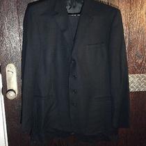 Versace Classic Vl2 Black Size 56' 4 Button Pre-Owned Pants Cuffed Suit Cl1 Photo