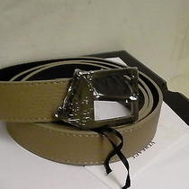 Versace Collection Belt Size 85/100 Genuine Leather Made in Italy Beige Color  Photo
