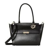 Versace Collection Black Saffiano Top Handle Satchel Nwt Missing Keychain 1300 Photo