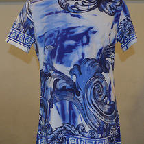Versace Collection Blue With Print T Shirt Size M Photo