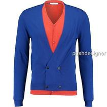 Versace Collection  Blue Wool  Cardigan Top Szs-M-  Perfect Gift Photo