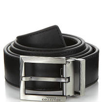 Versace Collection Cintura Nero Mens Black Leather Belt Nwt Sz 32 /80 Cm V910175 Photo