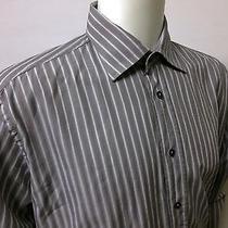 Versace Collection Gray Mens Sport Dress Shirt 17/43 Photo