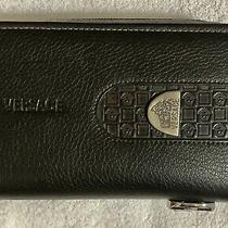 Versace Collection Large Medusa Unisex Leather Hand Clutch/wallet. W/certificate Photo