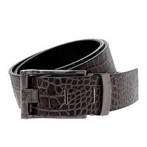 Versace Collection Medusa Croc Print Leather Belt 85 (34
